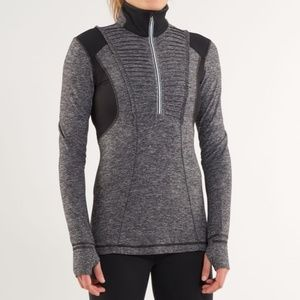 Lululemon Run Your Heart Out 1/2 Zip Pullover Top
